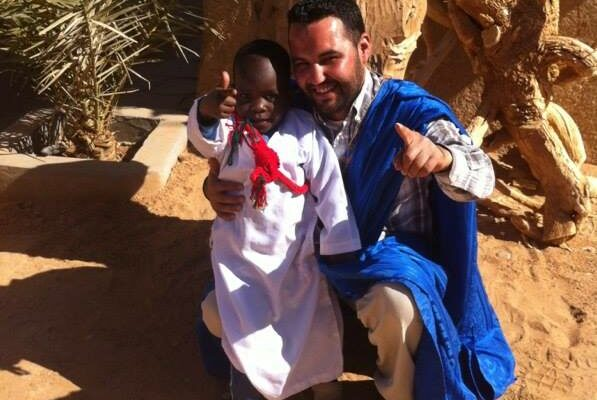 Desert child of Morocco
