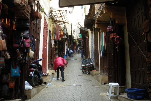 shopping in the souks old medina Fez